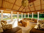 Villa Sepoi Sepoi - View of the sitting room facing the pool & Lombok Straits