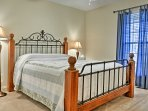 You're sure to have peaceful slumbers in this queen bed.