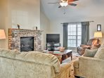 Inside, the tastefully appointed home has all of the comforts and necessities for your stay.