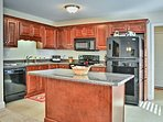 Prepare home-cooked masterpieces in the open fully equipped kitchen.