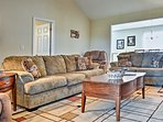 Curl up on one of the couches in the living area during your downtime.