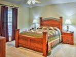 Each bedroom offers a queen bed.