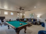 Family Room Pool table that converts to ping pong