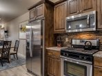 Beautiful Kitchen cabinets, stainless steel appliances