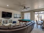 Family Room - game table and pool table