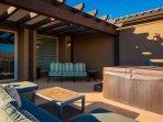 Upstairs Deck - Hot tub