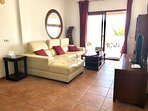 Bay View Villa - Lounge with Comfortable Leather Chaise Longue Sofa