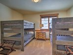 Kids will love staying in bedroom 2, which features 2 full-over-full bunk beds.