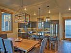 Enjoy family meals around the 6-person dining table.