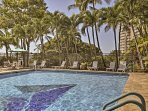 Take a dip in the pool to cool off from the Hawaiian heat!