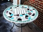 Mosaic table on the terrace