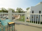 Front Patio overlooking the pool and Rehoboth Ave