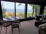 Enclosed, climate controlled sun porch with gorgeous view of river and valley.