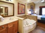 Jacuzzi Tub off of the Master Bedroom
