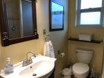 Large Unit-Bathroom with walk in Glass Shower