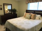 Large Unit-Bedroom with Beautiful Queen size Bedroom Set and Flat screen TV