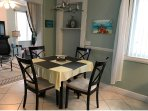 Unit #2 (Large unit) Dining Table for 4 plus 3 bar stools around the Granite Countertop island