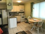 Small unit-Full Kitchen-granite counter tops, fully equipped with ALL appliances and dining table