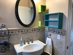 Small unit#1-Beautiful completely tiled Bathroom with modern sink