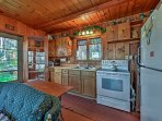 The kitchen is well-equipped with updated appliances and ample counter space.