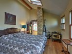 Retreat upstairs for peaceful slumbers on the queen bed in the second bedroom.