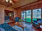 Inside you'll find gleaming knotty pine walls and antique furnishings that exude a  classic, cabin-like atmosphere.