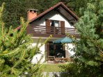 Holiday home located in quiet neighborhood, surrounded by mountains in small alpine village.