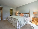 You're bound to sleep easy in this charming ground-floor master bedroom.
