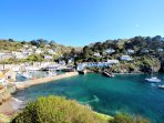 Polperro Harbour is just a 2 minute walk (not a view from the cottage)