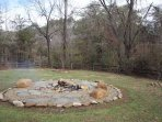 Fire Pit and Mountain View at Rustic Ranch