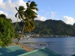 Soufriere from Still Beach House (5 mins from Anse Chastanet)