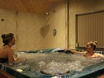 private use of the large indoor hot tub