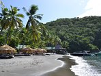 The beach at Anse Chastanet is wonderful for snorkelling