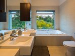 master ensuite with separate spa bath and shower