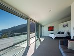 spacious master bedroom on the top level of home offering privacy and luxury