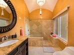 Spacious Master bathroom, walk in shower