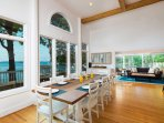 Enjoy home-cooked meals around the 8-person dining table.