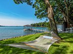 Swing in the hammock, dip your toes in the water off the dock and embrace your Mooresville home-away-from-home.