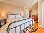 Sleep soundly on the queen bed in the fourth bedroom.