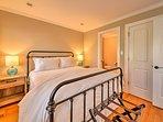 The third bedroom features an en-suite half-bath as well.