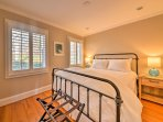 Rest easy on a queen bed in the third bedroom.