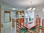 The spacious floor plan in the dining area is perfect for any family feast.