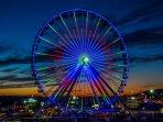 Branson Ferris Wheel Light Show.