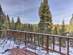 Look out to serene mountain views at this Truckee vacation rental home!