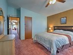 The master bedroom is perfect for families with young kids.