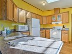 The fully equipped kitchen has everything you'll need to prepare your favorite recipes.