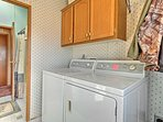 A laundry room is provided for you convenience.
