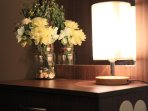 We love our cute lamps and warm lighting..