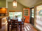 Beautiful natural light fills the dining room and kitchen.