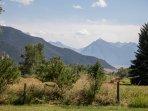 Admire the beauty of the Absaroka Mountain Range from your doorstep.